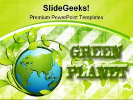 Green Planet Nature PowerPoint Template 0910