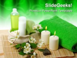 Green Spa Beauty PowerPoint Templates And PowerPoint Backgrounds 0311