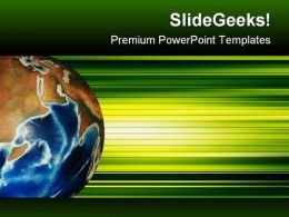 Green World Abstract Background PowerPoint Templates And PowerPoint Backgrounds 0711