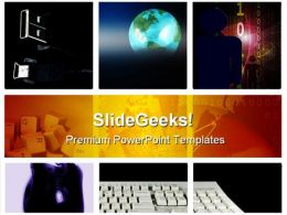 Grid Tech Computer PowerPoint Templates And PowerPoint Backgrounds 0811