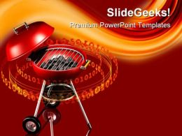 Grilling Technology PowerPoint Templates And PowerPoint Backgrounds 0611