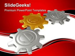 Group Of Gears Industrial PowerPoint Templates And PowerPoint Backgrounds 0611