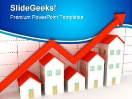 Group Of Houses On Sales PowerPoint Templates And PowerPoint Backgrounds 0611
