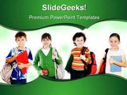 Group Of Students Education PowerPoint Backgrounds And Templates 1210
