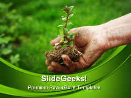 Grow Plants Nature PowerPoint Templates And PowerPoint Backgrounds 0511