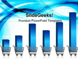 Growing Shopping Graph Sales PowerPoint Templates And PowerPoint Backgrounds 0411