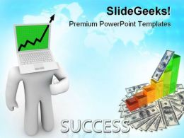 Growth Arrow Success PowerPoint Templates And PowerPoint Backgrounds 0711