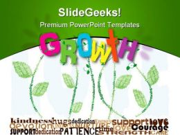 Growth Concept Nature PowerPoint Template 0810