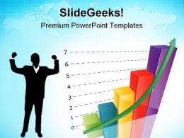 Growth Graph New Business PowerPoint Templates And PowerPoint Backgrounds 0711