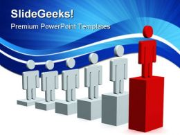 Growth Of Manpower Leadership PowerPoint Templates And PowerPoint Backgrounds 0411