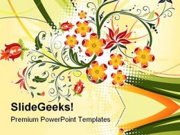Grunge Flower Background Design PowerPoint Templates And PowerPoint Backgrounds 0611