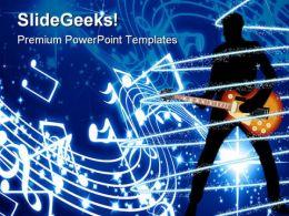Guitar Music PowerPoint Template 0610
