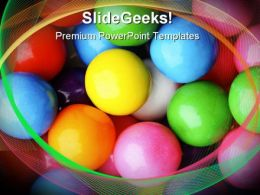 Gum Balls Shapes PowerPoint Templates And PowerPoint Backgrounds 0311