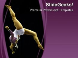 Gymnast Sports PowerPoint Template 0610  Presentation Themes and Graphics Slide01