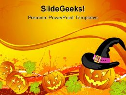 Halloween01 Autumn Festival PowerPoint Template 1010