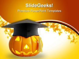 Halloween Graduation Nature PowerPoint Template 1010