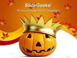 Halloween Pumpkin Nature PowerPoint Template 1010