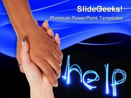 Hand For Help Metaphor PowerPoint Templates And PowerPoint Backgrounds 0711