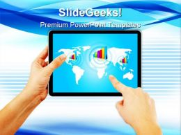 Hand Pushing Stock Growth Computer PowerPoint Templates And PowerPoint Backgrounds 0211