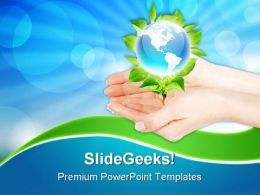 Hands And Earth Environment PowerPoint Templates And PowerPoint Backgrounds 0311