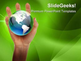 Hands And Earth Global PowerPoint Templates And PowerPoint Backgrounds 0211