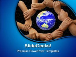 Hands Framing The Earth Global PowerPoint Templates And PowerPoint Backgrounds 0211