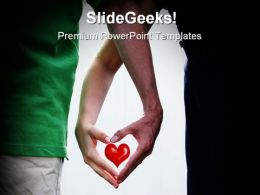 Hands Make Heart Family PowerPoint Backgrounds And Templates 0111