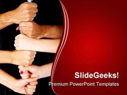 Hands Making A Tower Business PowerPoint Templates And PowerPoint Backgrounds 0411