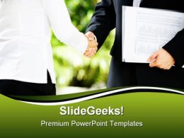 Handshake01 Business PowerPoint Template 0910