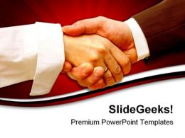 Handshake01 Business PowerPoint Templates And PowerPoint Backgrounds 0611