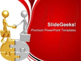 Handshake01 Business PowerPoint Templates And PowerPoint Backgrounds 0711