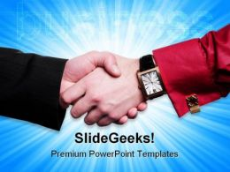 Handshake07 Business PowerPoint Templates And PowerPoint Backgrounds 0511