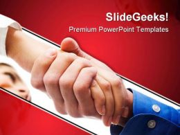 Handshake After Contract Business PowerPoint Templates And PowerPoint Backgrounds 0611