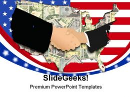 Handshake Americana PowerPoint Templates And PowerPoint Backgrounds 0411
