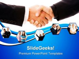 Handshake Concept Business PowerPoint Templates And PowerPoint Backgrounds 0311