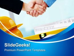 Handshake Construction PowerPoint Templates And PowerPoint Backgrounds 0411