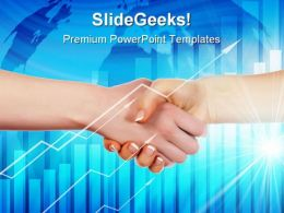 Handshake On Abstract Business PowerPoint Templates And PowerPoint Backgrounds 0311