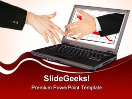 Handshake Success PowerPoint Templates And PowerPoint Backgrounds 0711
