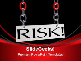 Hanging Risk Business PowerPoint Templates And PowerPoint Backgrounds 0411