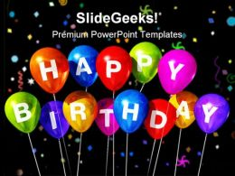 Happy Birthday Festival PowerPoint Templates And PowerPoint Backgrounds 0211