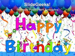 Happy Birthday People PowerPoint Template 0610
