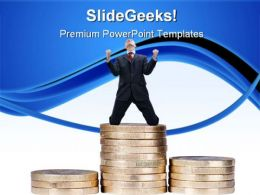 Happy Businessman Business PowerPoint Templates And PowerPoint Backgrounds 0711