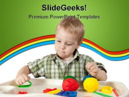 Happy Child Games PowerPoint Template 1110
