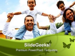 Happy Family PowerPoint Backgrounds And Templates 1210
