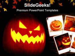 Happy Halloween Festival PowerPoint Templates And PowerPoint Backgrounds 0611