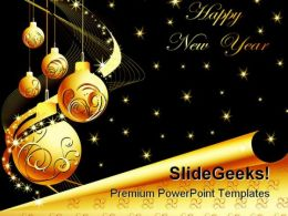 Happy New Year01 Holidays PowerPoint Template 1010
