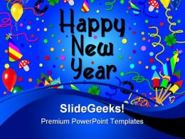 Happy New Year02 Holidays PowerPoint Template 1010