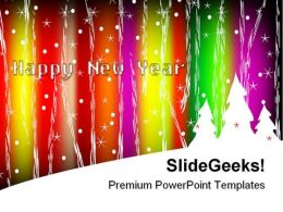 Happy New Year03 Festival PowerPoint Backgrounds And Templates 1210