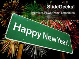Happy New Year Festival PowerPoint Templates And PowerPoint Backgrounds 0711