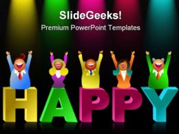 Happy People Business PowerPoint Templates And PowerPoint Backgrounds 0311